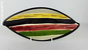 Vintage1950-039-s-STREHLA-VEB-Colorful-Serving-Dish-East-German-Pottery-GDR-Fat-Lava