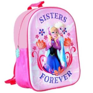 971c59ae8f DISNEY FROZEN ANNA ELSA SISTER BACKPACK SCHOOL JUNIOR BAG CHILDREN KID GIRL  PINK