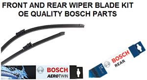Rear Windscreen Wiper Blade Set 2008-2014 *BOSCH AEROTWIN* Ford S-Max Front