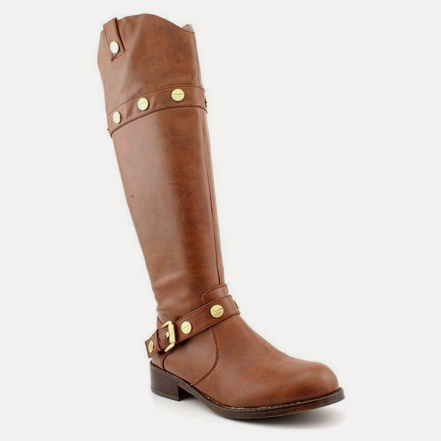 NEW International Concepts INC Marty Leather Knee High Riding bottes Taille 8 marron