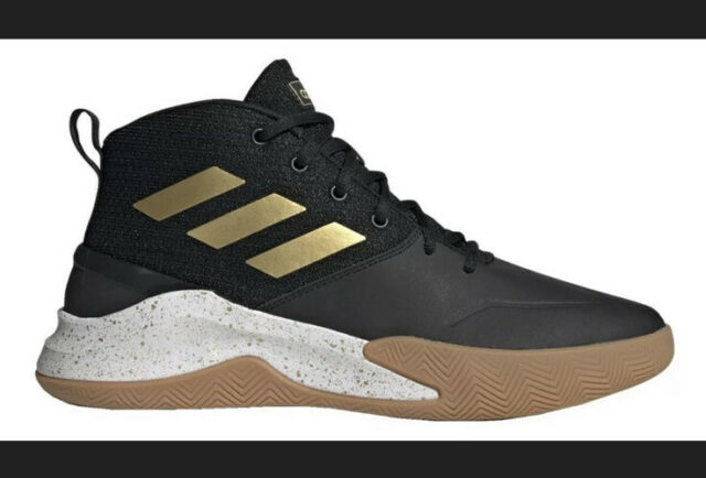 traicionar patio triste  Size 10 - adidas Own The Game Black Matte Gold for sale online | eBay