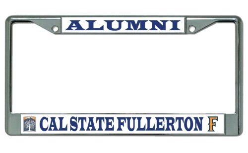 Cal State Fullerton Titans Alumni Chrome License Plate Frame