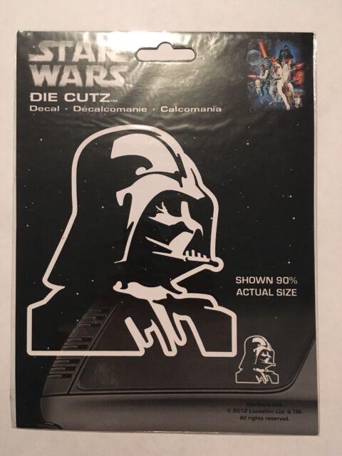 Licensed Star Wars Darth Vader White Decal Car Suv Truck window Sticker Die Cutz