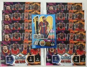 2020/21 Match Attax Champions League Soccer Cards - 10 Packets + Bonus 100 Club
