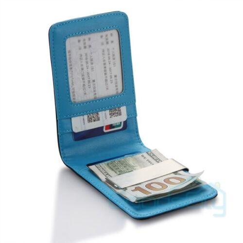 Mens Bifold Genuine Leather RFID Blocking Black Credit Card//ID Security Wallet