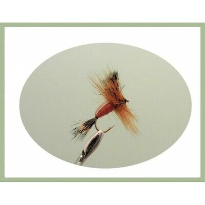 May Flies for Fly Fishing 6 Pack Size 10 Olive Humpy Trout Fishing Flies