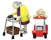 Aufziehbare Senioren Oma & Opa Set