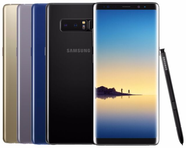 Samsung Galaxy Note 8 SM-N950F/DS 64GB (FACTORY UNLOCKED) Black Gold Pink Gray