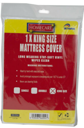 DOUBLE AND KING SIZE WATERPROOF VINYL FITTED MATTRESS PROTECTOR SHEET SINGLE