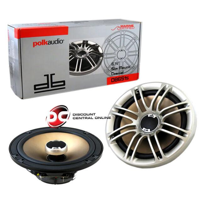 "BRAND NEW POLK AUDIO 6.5-INCH 6-1/2"" 2-WAY CAR AUDIO COAX SPEAKERS (PAIR)"