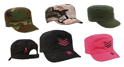 Women's Vintage Military Caps - Womans Adjustable Fatigue Hats - Rip-Stop!