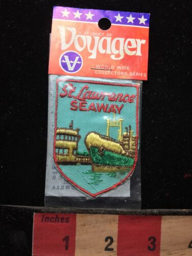 Vtg ST. LAWRENCE SEAWAY New York Patch ~ Voyager Brand In Package 71C7