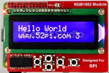 Raspberry Pi RGB 1602 16x2 LCD Keypad Shield LCD Display Module with I2C