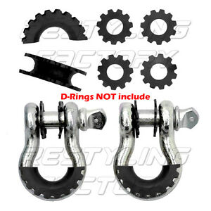 New-Black-Isolator-Washers-1-Pair-Set-Silencer-Clevis-for-3-4-034-D-ring-Shackles