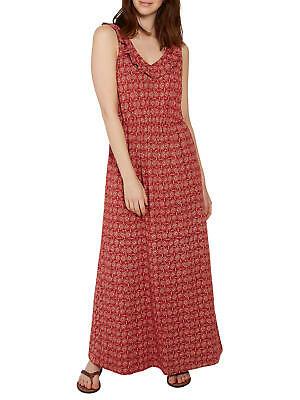 X2.15 Ex Marks and Spencer Lattice Neckline Summer Maxi Dress in Pink an Black