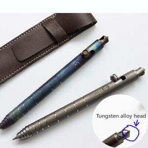 EDC Titanium Bolt Tactical Pen Tool Write Business Signature Pen Ballpoint pen