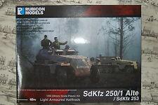 28MM GERMAN SDKFZ 250/1 ALTE  HALFTRACK - RUBICON - 1/56 - WW2 - 1ST CLASS -