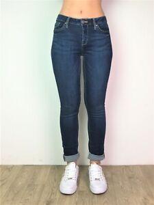 Femme-Denim-Jeans-Ex-Designer-Denim-stretch-slim-noire-droite-amp-Medium