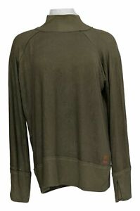 Peace Love World Women's Top Sz L Bree Bell Sleeve Comfy Knit Brown A351887