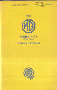 MG-MGA-Twin-Cam-Original-Factory-Owners-Handbook-Pub-No-AKD-879B-Dec-1959