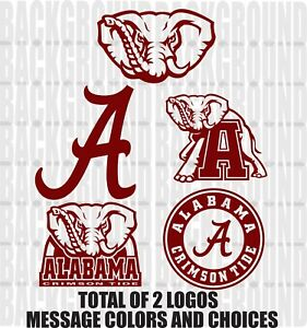 "2 Alabama Crimson Tide Cornhole Decals LARGE 12x10/"" Baggo Bean Bag Stickers"