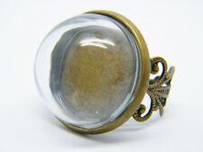Antique memento glass ring vial pendant kit sets bronze jewellery adjustable uk