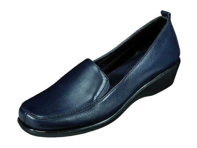The Flexx 340388 Slipper Halbschuhe Mokassin Leder Schuhe blau Gr.36-42 Neu2