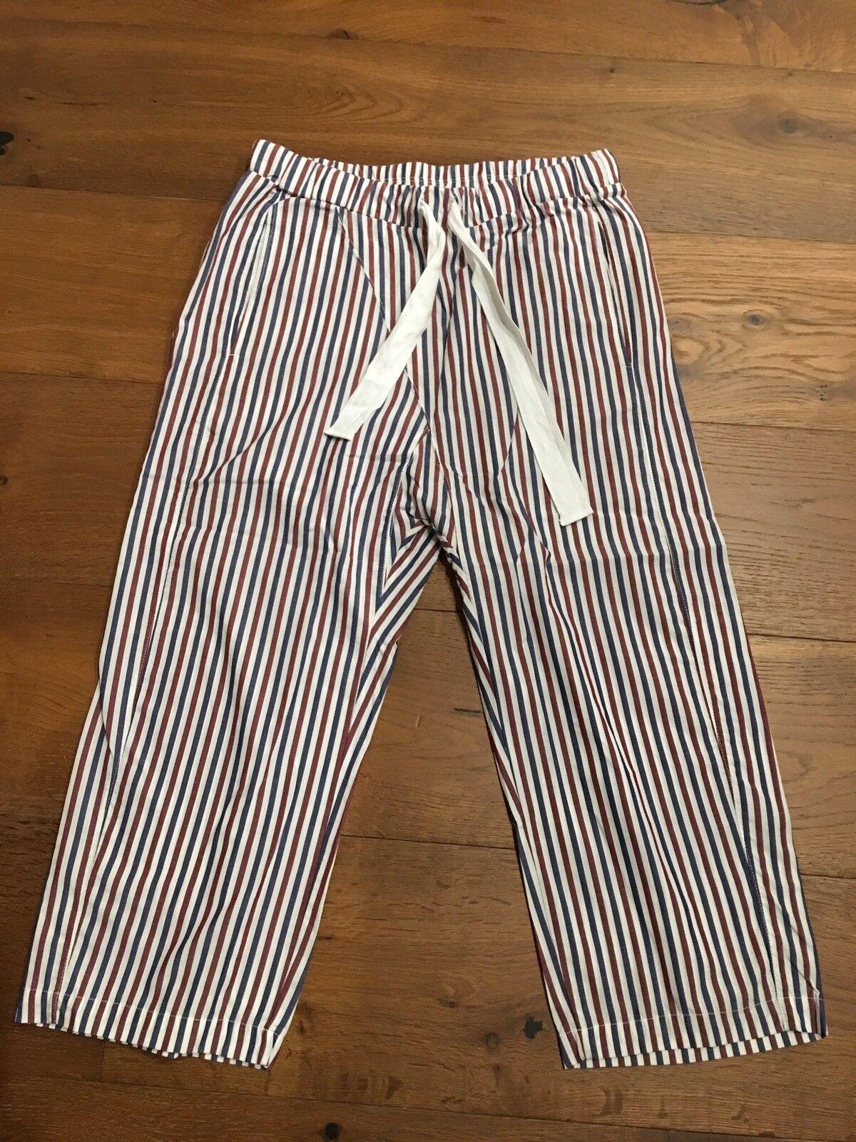 Authentic STATESIDE Wine Navy Stripes Pants Größe XS  149 NWT
