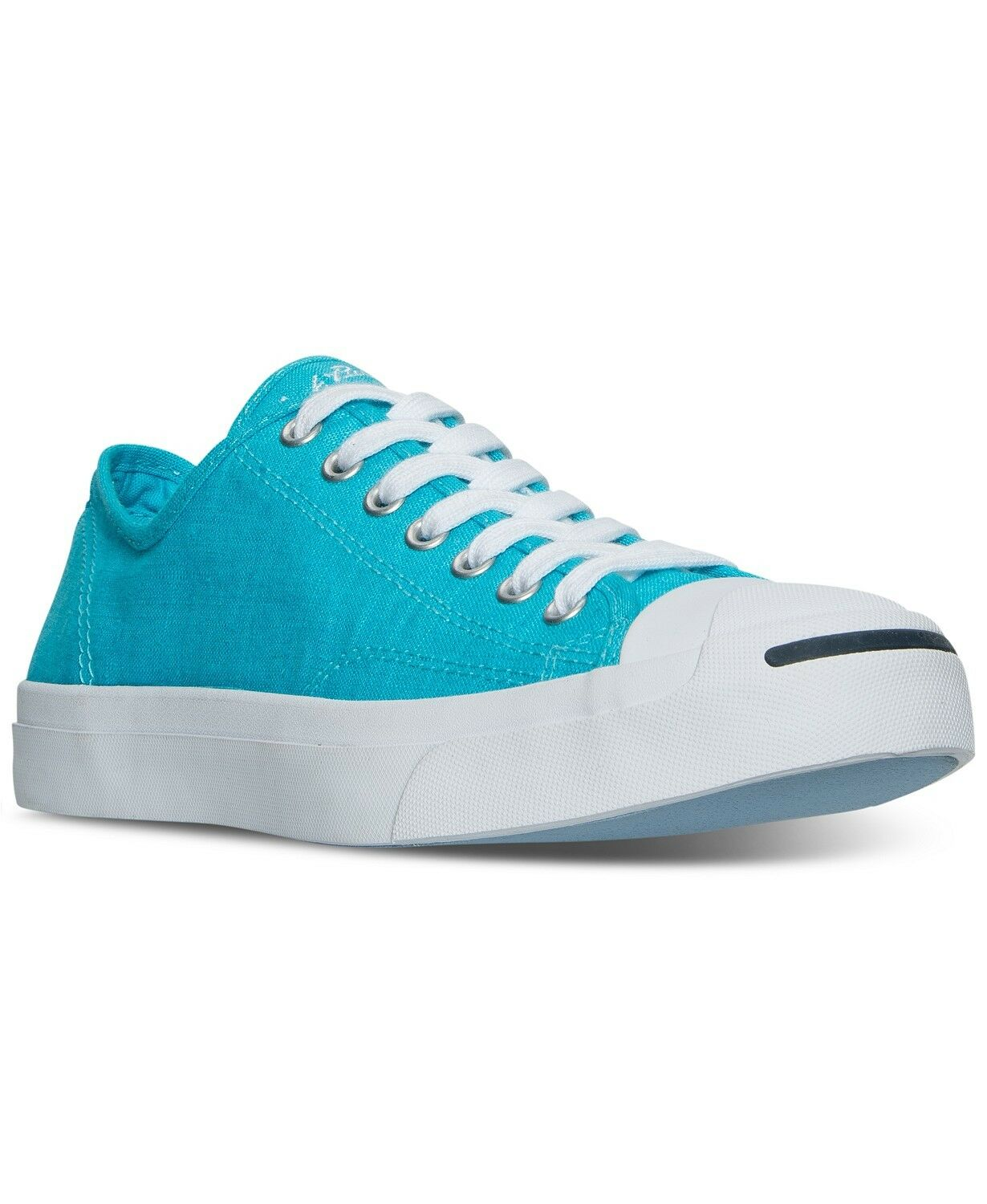 Converse Jack Purcell Open Textile Low Top Fresh Cyan bluee Unisex shoes 155635C