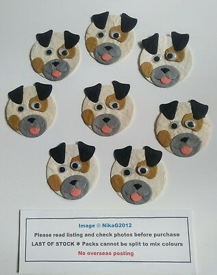 8 Wiggly Eye Cute Dog Toppers Kids Card Making Scrapbooks Paper Craft 5cm approx