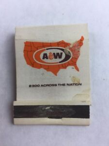 Vintage-A-amp-W-Collectible-Matchbook-Matchsticks-Incomplete
