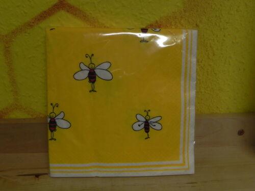 Servietten m.Bienen 20stk,gelb Imkerei,Imker,Biene,bee,