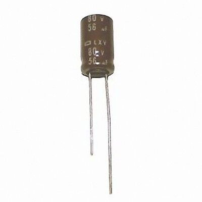 lot of 3 high temp 105c 63V 56uf Radial Aluminum Electrolytic Capacitor 78G9154