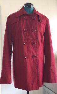 Caban Euc à en boutonnage double Grand Façonnable rouge coton qaOwqr7xZ