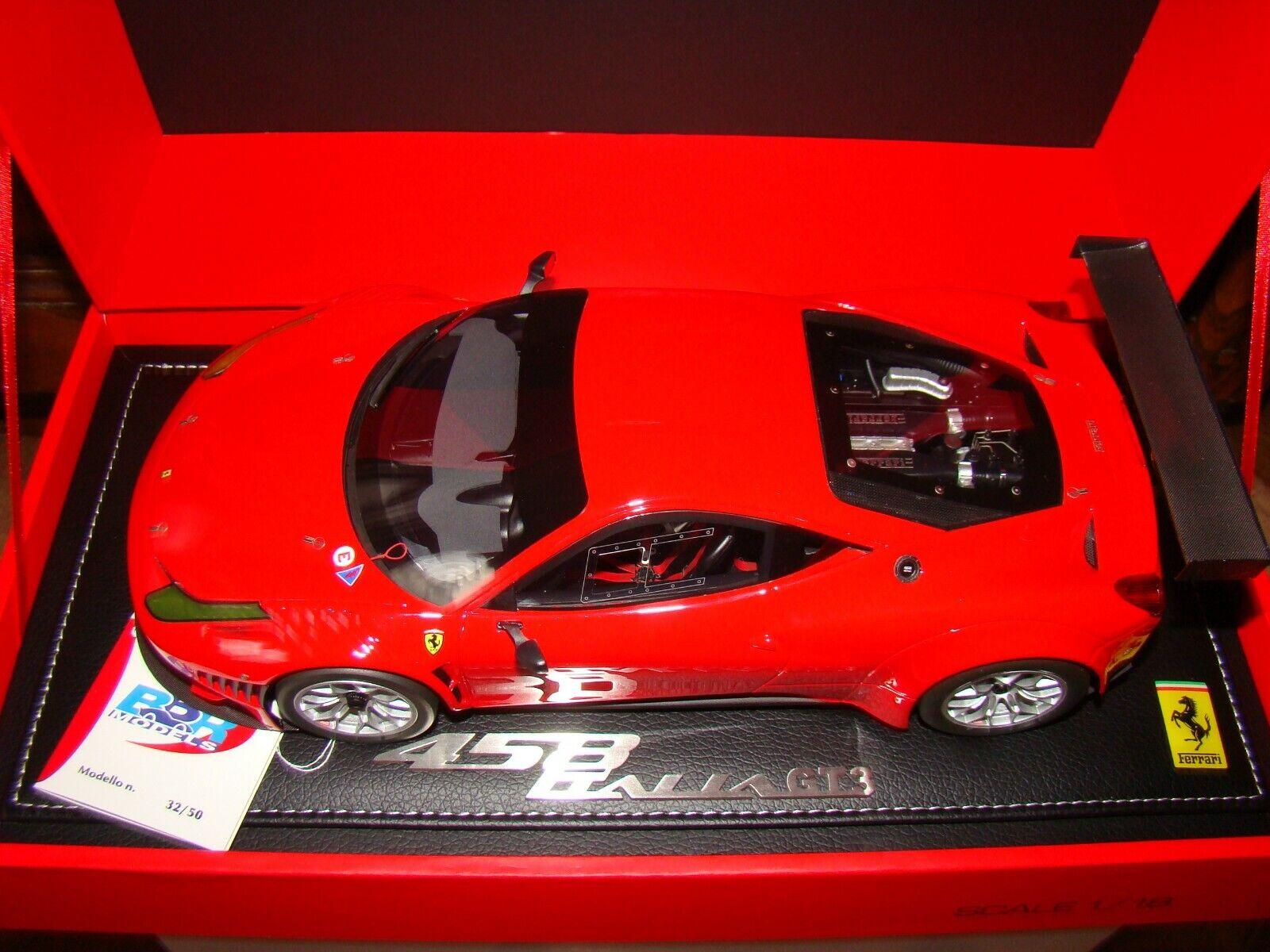 Ferrari 458 Italia Gt3 2011 Rosso Scuderia Bbr 1 18eme Limited 50Uds Muy Raro