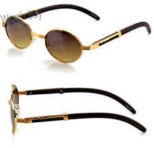 f490805962 Mens Womens Retro Vintage DESIGNER Fashion Sunglasses Shades Buffs Gold Oval
