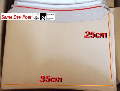 Large Card Mailers Envelopes 25cm x 35cm B4 Strong Glue Strip Books Magazines