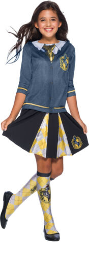 Hufflepuff Harry Potter Girls Child Wizard Uniform Costume Top