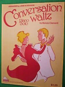 1989-SCHAUM-CONVERSATION-WALTZ-MUNZIO-CLEMENTI-PIANO-SOLO-SHEET-MUSIC-L-6