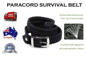 550-Paracord-Survival-Belt-for-Hiking-Hunting-Camping-Military