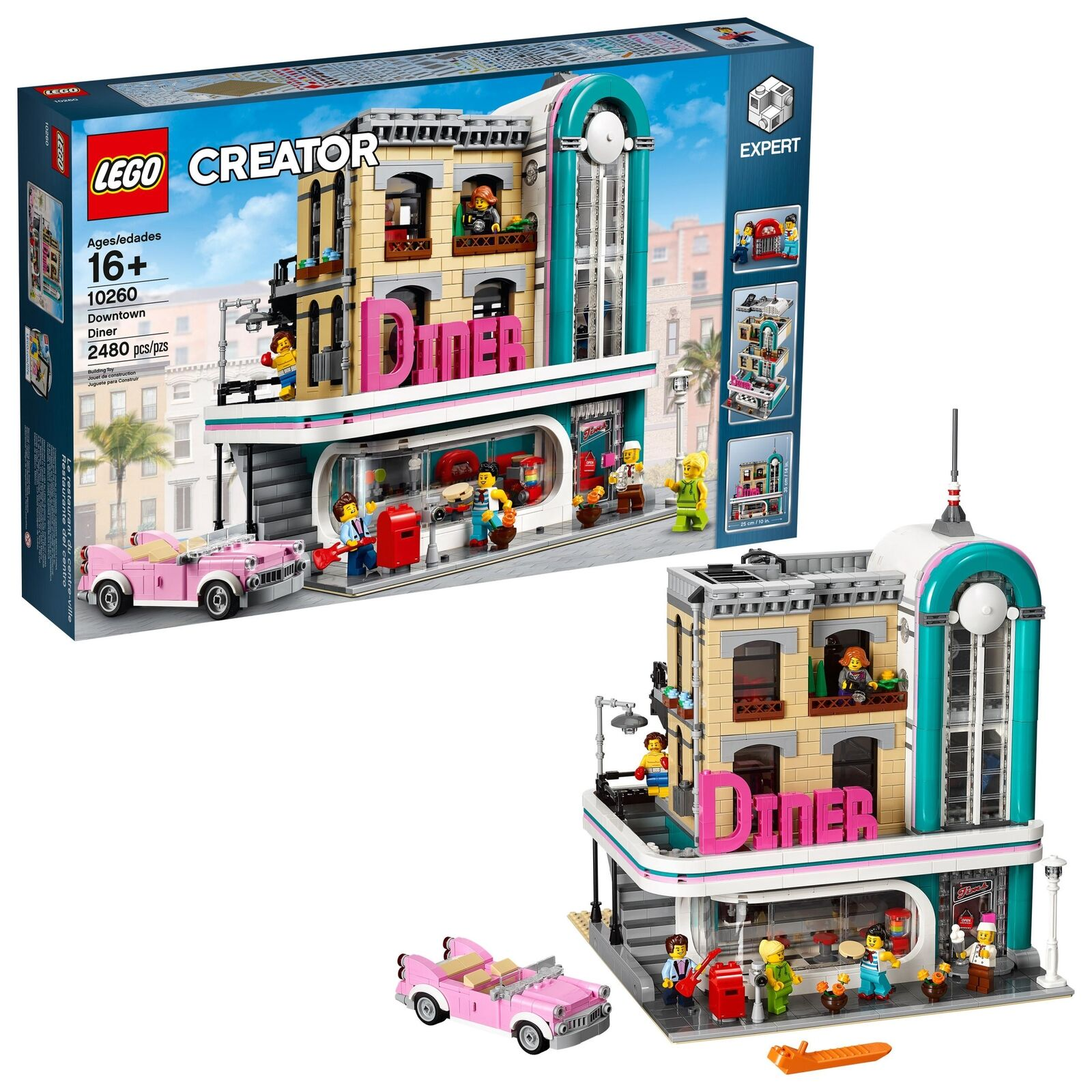 LEGO Creator Expert Downtown Diner 10260 Kids Construction Set Building Toy Gift