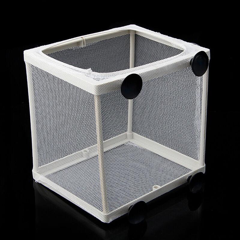 S/L Aquarium Fish Tank Guppy Breeding Breeder Fish Baby Gauze Trap Box Isolator 3