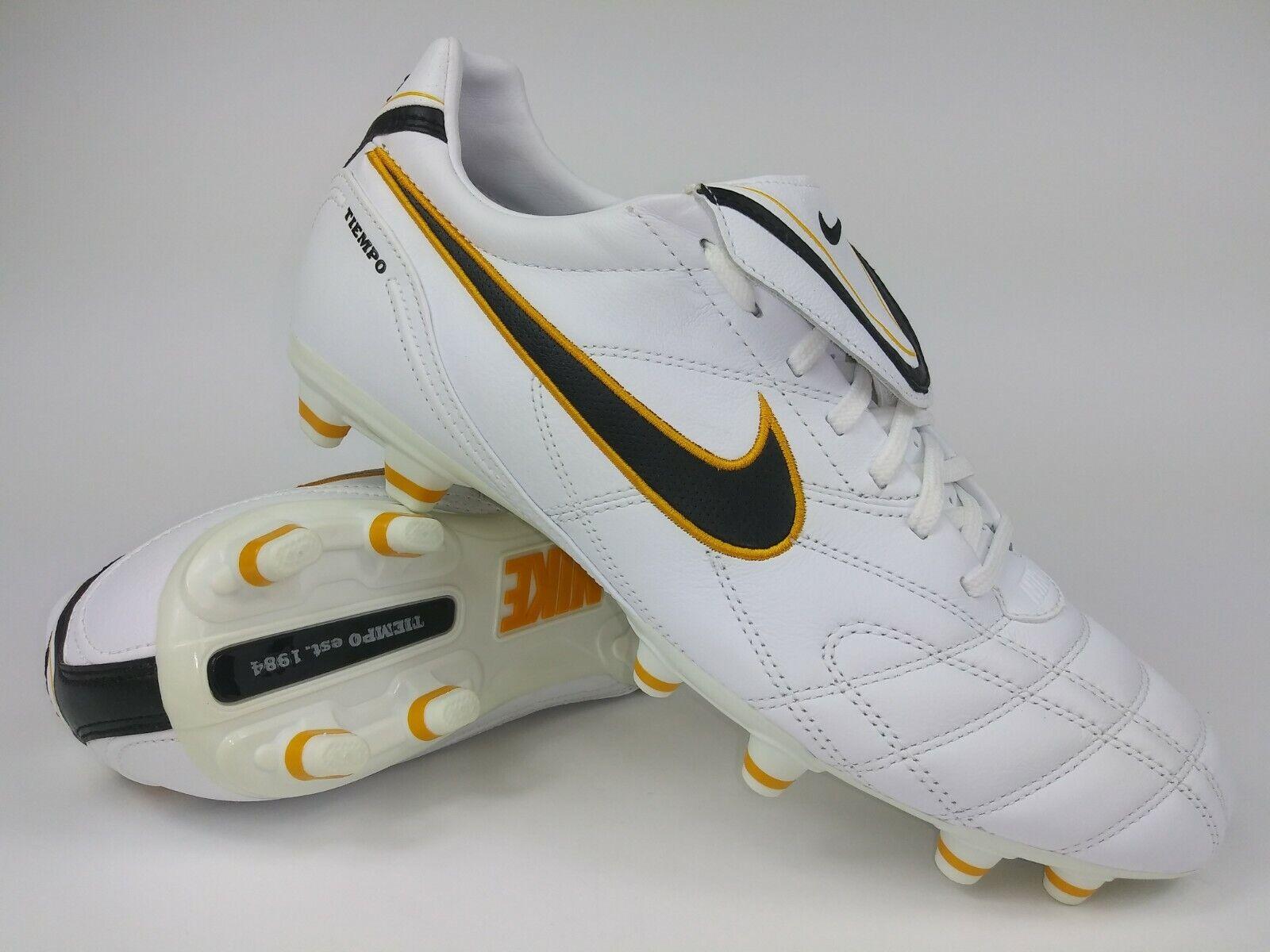 Nike Hombre Raro Tiempo Mystic Lll FG 366180-108 blancooo Amarillo Botines de hombre talla 6.5
