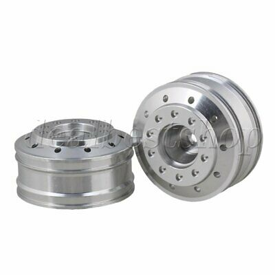 2pcs Silver 50010 Aluminium Alloy 47mm OD Front Wheel Rims for TAMIYA RC1:14 Car