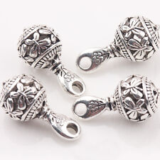 Tibetan silver plated carved star boot charm pendants   5pcs  EF3559