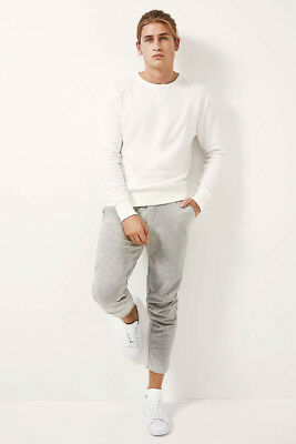 Bonds Mens Basic Pullover Jumper sizes Small Medium Large Colour Grey Marle