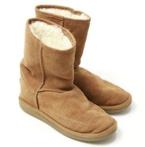 1955f921f0 Womens UKALA BY EMU AUSTRALIA Sydney High W80001 Brown Boots Wool ...