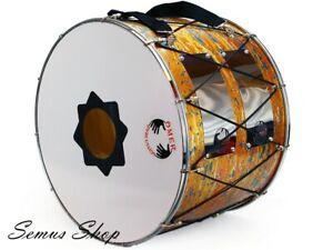Orientale-Professionnel-53-Cm-Davul-Dhol-Tambour-Batterie-100-Handmade-21