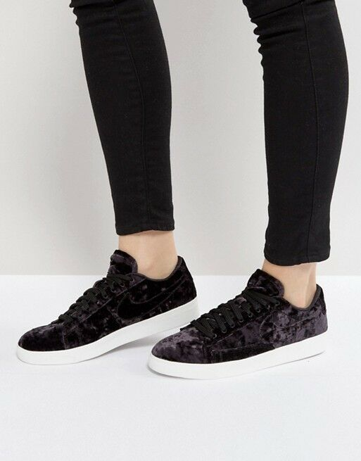 Chaussures Femme Nike Blazer Low LX velours taille 6 EUR 40 (AA2017 003) Noir/Blanc