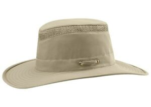 e74313dcf4541 Image is loading TILLEY-AIRFLO-HAT-LTM6-KHAKI-W-OLIVE-UNDER-